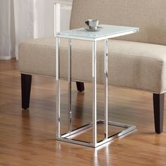 Coaster Furniture Chrome and Glass C End Table | from hayneedle.com