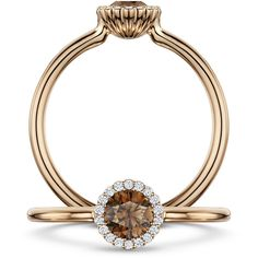 Women's Diamond Ring by Andrew Geoghegan Cannelé Chocolate ($3,350) ❤ liked on Polyvore featuring jewelry, rings, rose, chocolate diamond jewelry, diamond jewellery, chocolate rings, diamond jewelry and rose diamond ring