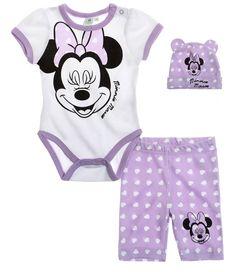 Süßes Baby-Set bestehend aus niedlichem Kurzarm-Body, Leggings und Mütze #Babymode