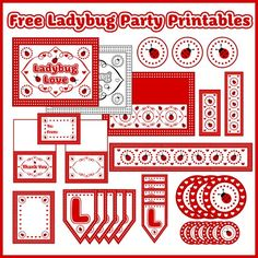 Free ladybug party printables! #ladybug #printables #free #birthday #babyshower