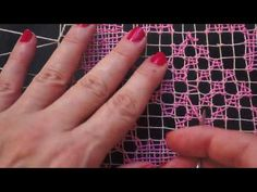 Capítulo 8 , Bordado parte cuatro Curso básico - YouTube Hardanger Embroidery, Hand Embroidery, Filets, Darning, Lace Making, Lace Patterns, Bobbin Lace, Filet Crochet, Macrame