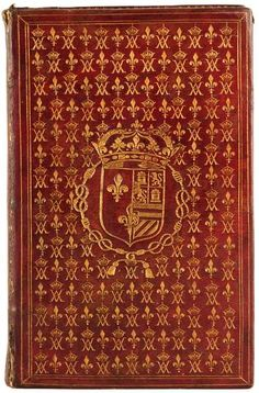 A French binding for Anne of Austria, wife of Louis XIII.  Author:Catholic Church.  Title:L'office de la Semaine saincte.  Published: Paris: G. Clopeiau, 1627.  Location:Rare Books (Ex)  Call number:5942.244.12  Spine height:18 cm