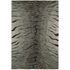 Nourison Hand-tufted Contours Animal Print Silver Rug (3'6 x 5'6)