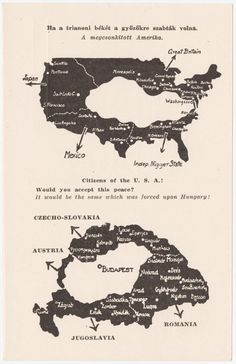 US Pro-Hungarian poster criticising the Treaty of Trianon (Hungary, North America, United States, World Wars) Hungary History, United Nations Peacekeeping, Saint Stephen, Alternate History, Old Maps, The More You Know, Historical Pictures, High Quality Images, Citizen
