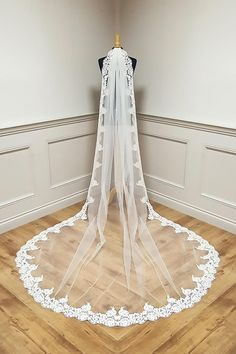 Stunning collection of Bridal Veils made in Ireland, different lengths and trims available.High quality Veiling and finish. Online Sales see website. Cater for different lengths and requirements. All designed and made in Dublin . This one is beaded wide lace edge veil, angel crystals can be added. Available in white and Ivory