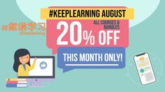 """Back in April, we offered #StayHome Pricing with 15% off to help you study online.  With many students and teachers going """"back to school"""" online, we want to continue to support you with #KeepLearning August and a 20% discount to study with us on YoyoChinese.com! 💻👩🏻🏫  Our courses help with the big challenges of learning online, giving you a structured approach with fun reviews and fantastic support from our team. 💪  Click through and get LIFETIME ACCESS to our online courses at 20%…"""