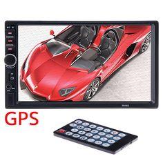 "2 din Car GPS Navigation Multimedia Player Camera Map 7"" HD Touch Screen Bluetooth AUX Autoradio MP5 Video Radio Steering-Wheel"