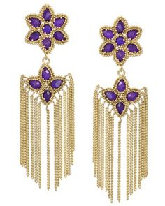 Brighton Statement Earrings in Purple - Kendra Scott Jewelry