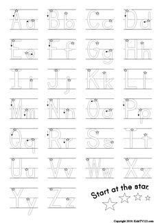 letter trace worksheet