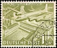 grands airports on stamps