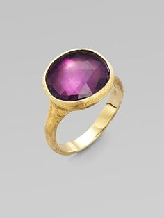 Classic - the Romans wore rings just like this!  Marco Bicego 18K Gold Ring/Amethyst