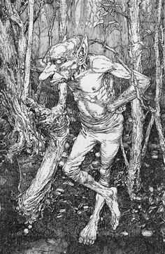 another one by Alan Lee. Fairytale Creatures, Magical Creatures, Fantasy Creatures, Alan Lee, Fairy Land, Fairy Tales, La Reverie, Rockwell Kent, Brian Froud