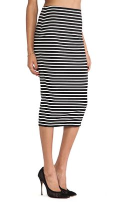 Striped Pencil Skirt. love.
