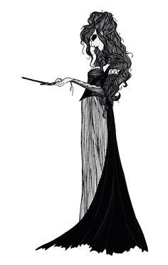 Bellatrix Lestrange. $15.00, via Etsy.
