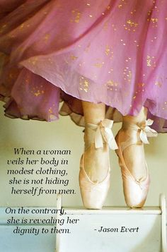 When a woman veils her body in modest clothing, she is not hiding herself from men; on the contrary, she is revealing her dignity to them. - Jason Evert