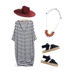 Sunday Style: stripes, sandals and South Pacific ✔✔✔ #alliteration #style #rubyolive