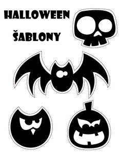 halloween šablony, halloveen, závěs , halovín, helouvín