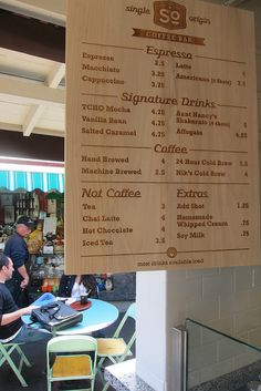 Looove! Simple, how it's split up and just clean!Short Cake: Coffee Menu by Guzzle & Nosh, via Flickr