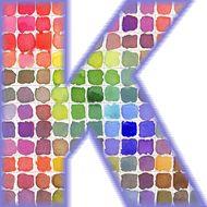 uppercase letter K by kristin mcnulty Letter K Font, Letter Art, Watercolor Lettering, Cool Lettering, Name In Different Fonts, Khalid, Letters And Numbers, Sign Design, Color Patterns