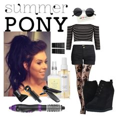 """60 Second Style : : Hair Trend : : Summer Pony #2"" by brynfoley ❤ liked on Polyvore featuring beauty, H&M, Michael Antonio, Ouai, Drybar, Nicky Clarke, Monki, hairtrend, 60secondstyle and summerpony"