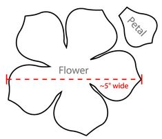 flower petal template - Google Search
