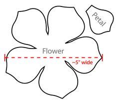 flower petal template - Google Search