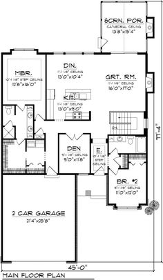The Home Decor Guru – Interior Design For Bedrooms Ranch Home Floor Plans, Simple Ranch House Plans, Craftsman Floor Plans, Open Floor House Plans, Garage Floor Plans, Farmhouse Floor Plans, Home Design Floor Plans, New House Plans, Craftsman Style