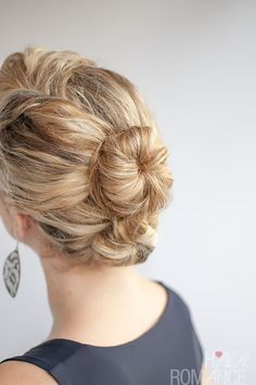 Hair Romance - The Double Bun Hairstyle in curly hair