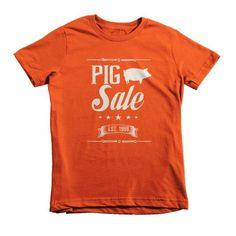 Vintage Pig Sale Short sleeve kids t-shirt