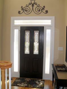 Painting Interior Doors. Looks soooo much better than plain white on white!