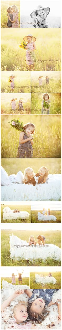 Feather Bed   #sister pictures  #outdoor photography # family photo session