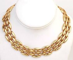 Cartier Navette Link Gold Necklace For Sale at 1stdibs