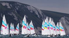 Competition begins in the men's Laser Sailing on Day 5 at Weymouth & Portland. London 2012 Olympics.