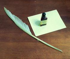 Hand-Cut  Goose Feather Quill for Calligraphy and Medieval
