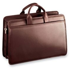 Jack Georges Double Gusset Top Zip Leather Briefcase 8202 Platinum Special  Edition with FREE expedited shipping   FREE personalized initials! 00abbd0591bd3