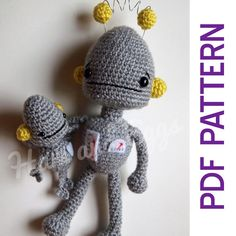 Amigurumi Robot and Robot Baby pattern