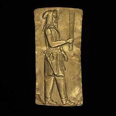 Achaemenid, Gold Plaque Showing Priest (Oxus Treasure), c. 5th–4th century BC, gold, British Museum. © Trustees of the British Museum