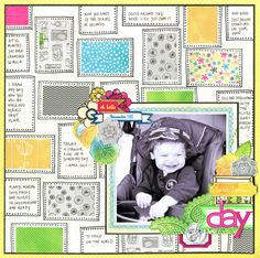 This is just so cute by Julie Bonner, she's done some art journaling on this one, love how she created her background with stamps!
