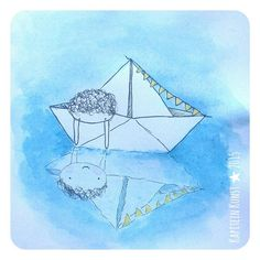Good morning IG! Here's yesterday's boat doodle. Now sailing of to have a fun sunday, wishing you a great day as well. #365doodleswithjohannafritz  ____________________________________ #doodling #doodle #drawdaily #drawing #illustration #illustratie  #illustratorsoninstagram #illustrator #origami #boat #water #sailor #childrenillustration #childrensbooks #kidsillustration #watercolor