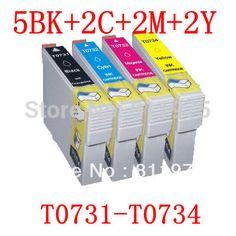 11PCS  73 T0731-T0734 compatible ink cartridge For EPSON Stylus C79/C90/C92/C110 CX3900/CX4900/CX4905/CX5600 printers with ink