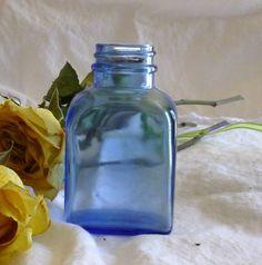 Antique Blue Bottle by BlissfulVine on Etsy, $16.00 #antiques #vintage #collectibles #apothecarybottle #blueglass #bluebottle #budvase #oldbottles #glassbottle #collectorsgift