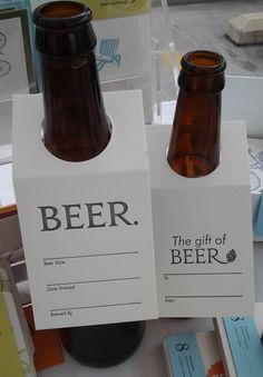 "BEER ""gift"" tags. Perfect for the holiday, share the brew. Letterpress printed set of 10. $10.00, via Etsy."