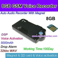 5000mah gsm digital audio recorder with voice activated function
