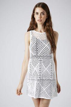 vestido em crochê granny square