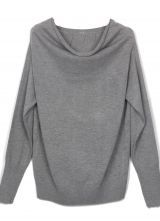 Light Grey Boat Neck Long Sleeve Batwing Pullovers Sweater $31.68  #SheInside #hipster #love #cute #fashion #style #vintage #repin #follow