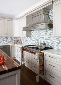 Painted-Warm-Grey-Kitchen-in-Winnetka-Spice-open