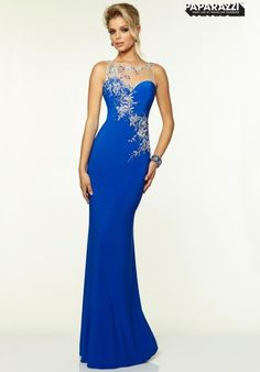 Wedding Dresses, Bridesmaid Dresses, Prom Dresses and Bridal Dresses Mori Lee Paparazzi - Style 97098 - Mori Lee Paparazzi, Spring Sheath Jersey & Mesh with Embroidery and Beading evening gown with side zipper and sheer back. Junior Prom Dresses, Prom Dresses 2015, Prom Dresses Blue, Cheap Prom Dresses, Ball Dresses, Evening Dresses, Chiffon Dresses, Jersey Dresses, Prom 2015