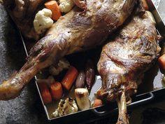 Langtidsstekt kjebog Polenta, Sausage, Food And Drink, Pork, Turkey, Cooking, Bulgur, Kale Stir Fry, Kitchen