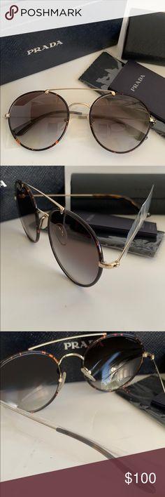 186de31c61 Prada Sunglasses SPR53P 54/20 2AU-UA7 135 non-polarized vintage round  sunglasses · Gafas De Sol ...