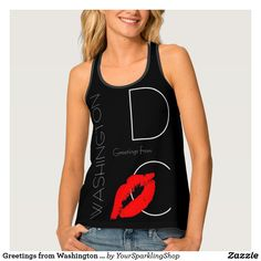 #Greetings from Washington #DC Red Lipstick Kiss Tank Top #JustSold #ThankYou :)